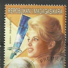 Sellos: MADAGASCAR 1999 SELLO TEMATICA CINE - PELICULAS - ACTRIZ BRIGITTE BARDOT. Lote 297342293