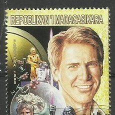 Sellos: MADAGASCAR 1999 SELLO TEMATICA CINE - PELICULAS - ACTOR HARRISON FORD - STAR WAARS. Lote 297342573
