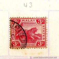 Sellos: SELLO MALASIA, PRINCIPIO S.XX (VER IMÁGENES EN INTERIOR). Lote 12989773