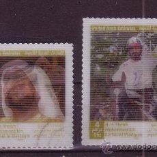 Sellos: EMIRATOS ARABES UNIDOS 824/25 - AÑO 2006 - CHEIKH MOHAMMED BEN RACHED AL MAKTOUM SOBERANO DE DUBAI. Lote 17719665