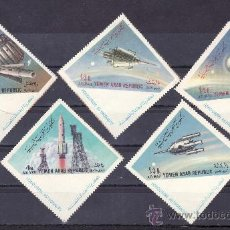 Sellos: YEMEN REPUBLICA ARABE A 9/13 CON CHARNELA, EN HONOR DE LOS ASTRONAUTAS, ESPACIO, . Lote 23597948