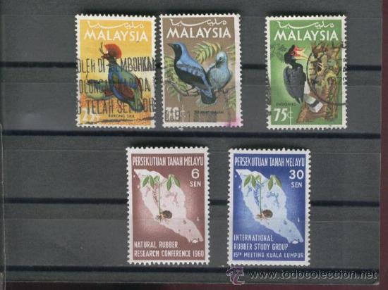 LOTE . SELLOS. PAJAROS. MALAYSIA. MALASIA. (Sellos - Extranjero - Asia - Otros paises)