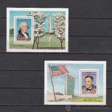 Sellos: BHUTAN HB 88/9 SIN CHARNELA, ANIVERSARIO NACIMIENTO DE JORGE WASHINGTON Y DE FRANKLIN D. ROOSEVELT. Lote 26593567