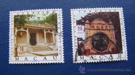 1975 MACAO, PAGODAS, YVERT 434/5 (Sellos - Extranjero - Asia - Otros paises)