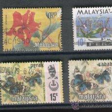 Sellos: SELLOS. BONITOS. MARIPOSAS. FLORA. MALASIA. MALAYSIA.. Lote 30803456