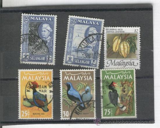 MALAYSIA.MALAISIA.MALASIA.SELLOS.PAJAROS.PAISES EXOTICOS. (Sellos - Extranjero - Asia - Otros paises)