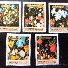 Sellos: MANAMA YVERT Nº 34 MNH CHRISTMAS 1970 (FLORES). Lote 35208900