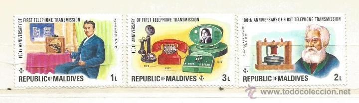 MALDIVAS 1976. CENTENARIO DEL TELÉFONO. (Sellos - Extranjero - Asia - Otros paises)
