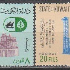 Sellos: KUWAIT IVERT Nº 340/1, INAUGURACIÓN DE UNA FABRICA DE FERTILIZANTES, NUEVOS. Lote 41974125
