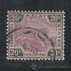 Sellos: MALASIA (FEDERACION) 21 USADA,. Lote 192737760