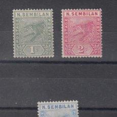 Sellos: MALASIA NEGERI SEMBILAN 2/4 SIN GOMA, FAUNA, TIGRE,. Lote 42092059