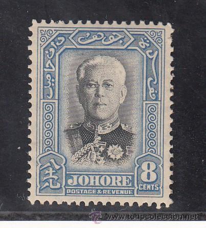 MALASIA JOHORE 106 CON CHARNELA, FLORES, (Sellos - Extranjero - Asia - Otros paises)