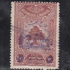 Sellos: GRAN LIBANO 197 USADA, SELLO SOBRETASA OBLIGATORIA EN BENEFICIO DEL EJERCITO . Lote 43699710
