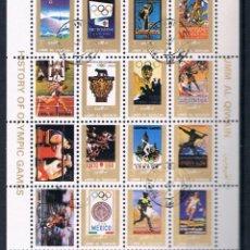 Sellos: HOJA BLOQUE UMM AL QIWAIN 1972 HISTORY OLYMPIC GAMES - JUEGOS OLIMPICOS REF003. Lote 47817765