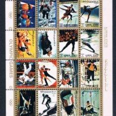 Sellos: HOJA BLOQUE UMM AL QIWAIN 1972 HISTORY OLYMPIC GAMES - JUEGOS OLIMPICOS . Lote 47817816