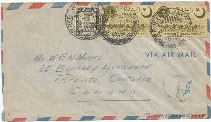 1952 - SOBRE DIRIGIDO DESDE PAKISTAN A CANADA (Sellos - Extranjero - Asia - Otros paises)