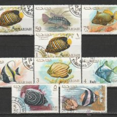 Sellos: SHARJAH 1966. SERIE: PECES *.MH. Lote 52690369