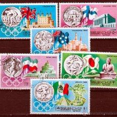 Sellos: SHARJAH. 1968 SERIE: HISTORIA DE LAS OLIMPIADAS. *.,MH. Lote 52709754