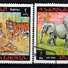 Sellos: FUJEIRA 1969 SERIE AEREA : ANIMALES *.MH. Lote 53318427