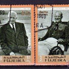 Sellos: FUJEIRA 1969 SERIE AEREA: EISENHOWER *.MH. Lote 53318458