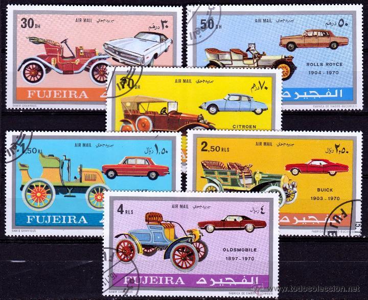FUJEIRA 1970 SERIE AEREA : VEHICULOS *.MH (Sellos - Extranjero - Asia - Otros paises)