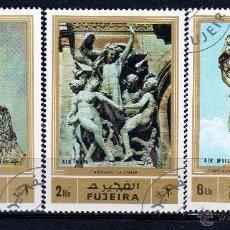 Sellos: FUJEIRA 1972, SERIE AEREA : ESCULTURAS *.MH. Lote 53318684