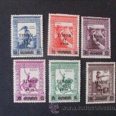 Sellos: TIMOR,PORTUGAL,1946,IMPERIO COLONIAL CON SOBRETASA,AFINSA 244-249*,SCOTT 240-245*,COMPLETA,NUEVOS. Lote 54005730
