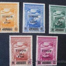 Sellos: TIMOR,PORTUGAL,1946,IMPERIO COLONIAL,AEREO SOBRETASA,AFINSA 10-14*,SCOTT C10-C14*,COMPLETA,POCO FIJA. Lote 54034351