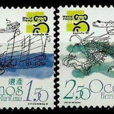 Sellos: MACAO [COLONIA PORTUGUESA] 1999- MI 1011/12 AFI 0989/90 (SERIE) ***NUEVO. Lote 56803538