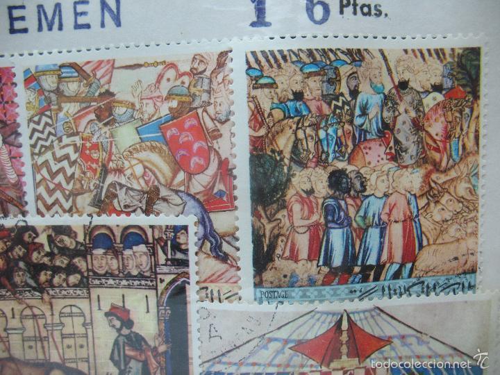 Sellos: Lote de 7 sellos de Yemen - Foto 3 - 60566559
