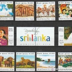 Sellos: SRI LANKA. 2011. (16-622 ) SERIE. MARAVILLAS DE ASIA . **.MNH.. Lote 66253926