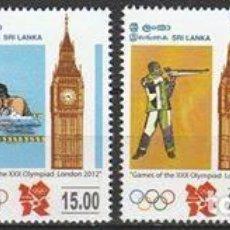 Sellos: SRI LANKA. 2012.(16-624) SERIE. JUEGOS OLIMPICOS LONDRES 2012. **. MNH.. Lote 66257026