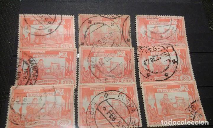 9 SELLOS DE BIRMANIA DE 1954 (Sellos - Extranjero - Asia - Otros paises)