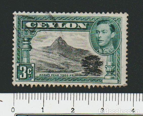CEILAN ( COLONIA BRITÁNICA ).1937-38.-3 CENT.YVERT 253.USADO. (Sellos - Extranjero - Asia - Otros paises)