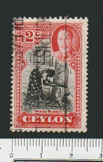 CEILAN ( COLONIA BRITÁNICA)1935-36.-.2 CENT.YVERT 238.USADO. (Sellos - Extranjero - Asia - Otros paises)