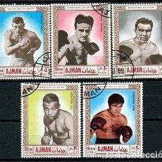 Sellos: AJMAN 1969, SERIE, BOXEADORES FAMOSOS. *.MH. Lote 80497813