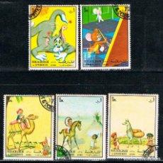 Sellos: SHARJAH (EMIRATOS ARABES) DIBUJOS ANIMADOS, USADO. Lote 89369736