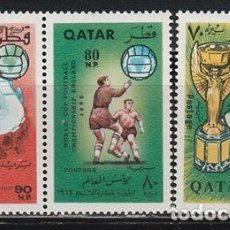Sellos: QATAR 1966. MUNDIAL FUTBOL INGLATERRA ' 66 **.MNH. Lote 96024659