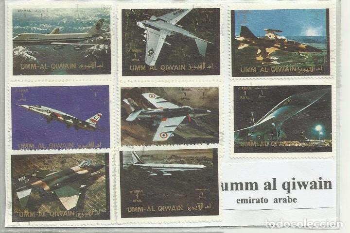 LOTE DE SELLOS UMM AL QIWAIN (EMIRATO ARABE) (Sellos - Extranjero - Asia - Otros paises)
