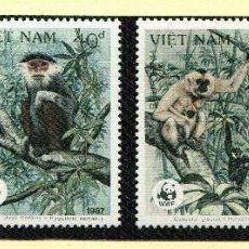 Sellos: VIET-NAM 1987 MI 1837 A 1830 4 SELLOS MNH + 4 FDC + 4 TARJETAS MAXIMAS WWF. Lote 106613027