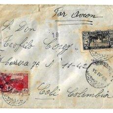Sellos: 1943 - HISTORIA POSTAL CORREO AÉREO - LIBANO. Lote 52296417