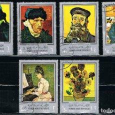 Briefmarken - YEMEN - LOTE DE 6 SELLOS - PINTURA (USADO) LOTE 20 - 117209643