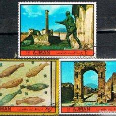 Sellos: AJMAN (EMIRATOS ARABES) Nº 2500/2, EL IMPERIO ROMANO EN ITALIA (ROMA Y POMPEYA), USADO. Lote 151880796