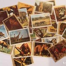 Sellos: 39 SELLOS DE EMIRATOS ARABES TEMA ANIMALES. Lote 123859391