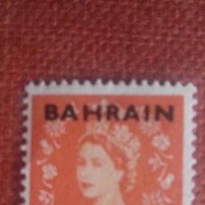 Sellos: BAHRAIN 1952. SG80. SELLO BRITÁNICO SOBRECARGADO. ISABEL II. MATASELLADO.. Lote 131911506