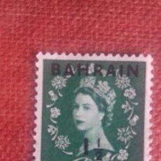 Sellos: BAHRAIN 1952. SG82. SELLO BRITÁNICO SOBRECARGADO. ISABEL II. NUEVO CON CHARNELA. Lote 131911902