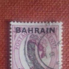 Sellos: BAHRAIN 1952. SG87. SELLO BRITÁNICO SOBRECARGADO. ISABEL II. MATASELLADO.. Lote 131912642
