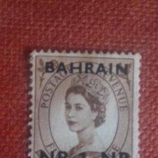 Sellos: BAHRAIN 1957. SG102. SELLO BRITÁNICO SOBRECARGADO. ISABEL II. NUEVO CON CHARNELA.. Lote 131913238