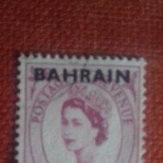 Sellos: BAHRAIN 1957. SG108. SELLO BRITÁNICO SOBRECARGADO. ISABEL II. NUEVO CON CHARNELA.. Lote 131913514