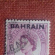Sellos: BAHRAIN 1957. SG108. SELLO BRITÁNICO SOBRECARGADO. ISABEL II. USADO.. Lote 131913634